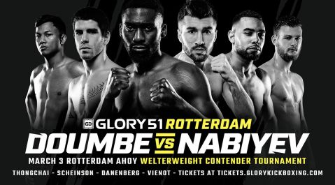 Cédric Doumbé vs. Alim Nabiyev at GLORY 51 SuperFight Series Determines No. 1 Welterweight Contender