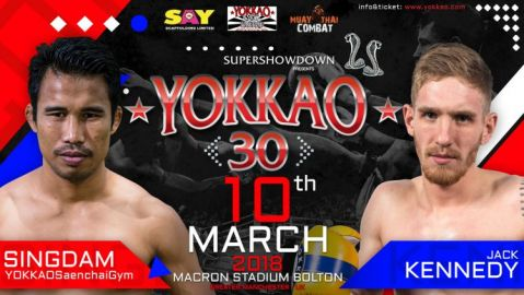 McAllister out of YOKKAO 30! Singdam now faces Jack Kennedy!