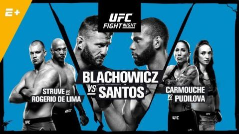 UFC Fight Night: Blachowicz vs. Santos fight card