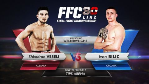 Shkodran Veseli is to lock horns with Ivan Bilić in FFC 30 kickboxing main event