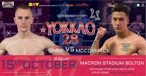 Chris Shaw Meets Connor McCormack at YOKKAO 28!