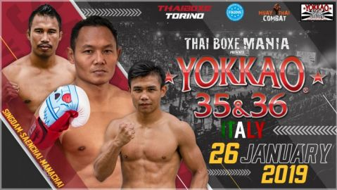 Saenchai Singdam and Manachai Set for YOKKAO 35-36 in Italy!