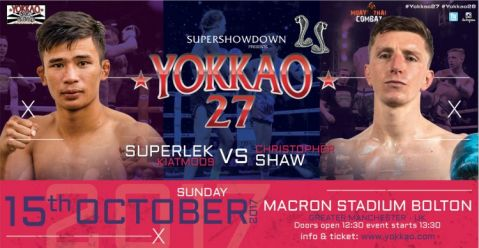 YOKKAO 27 heats up! Superlek Kiatmoo9 vs Christopher Shaw