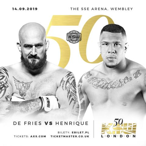 De Fries and Narkun title fights official for KSW 50