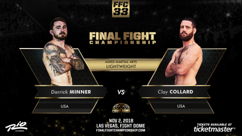 FFC 33 Co-Main Event Features Former UFC Fighter Nov. 2