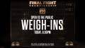 FFC 33 Weigh-Ins Open To The Public Today at Fight Dome TV Studio