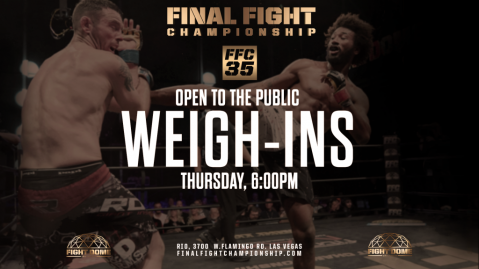 FFC 35 Weigh Ins: Open To Public at Fight Dome on Thursday at 6PM