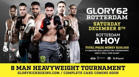Eight Elite Heavyweights to Battle for Divisional Supremacy During One-Night Tournament at GLORY 62 Rotterdam