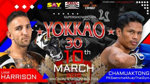 Liam Harrison To Defend Title Against Chamuaktong At YOKKAO 30!